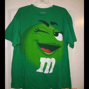 M&Ms Green M&M Candy Tshirt